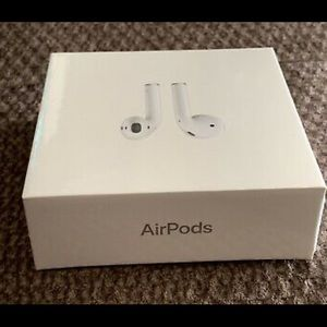 Latest Model Apple AirPods w Charging Case-2nd Gen